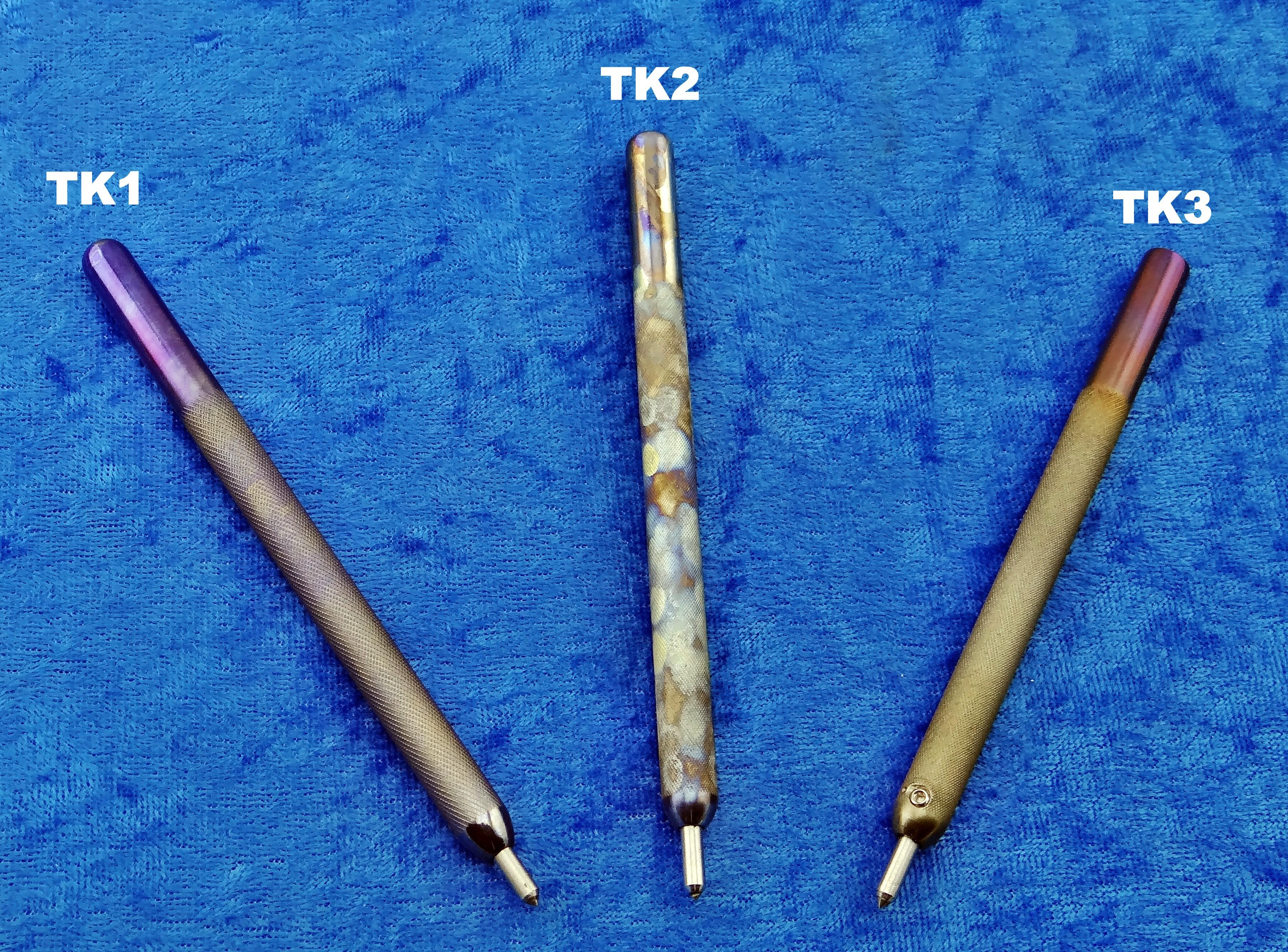 HAND MADE Titanium Knurled Carbide Scribe